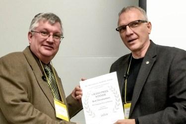 IIDFA Swanson Erlinder Award Certificate
