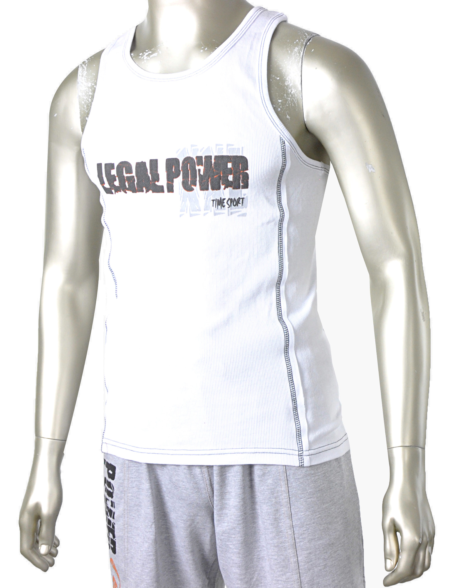 Xxl Lastminute Tank Top Xxl Legal Power Di Legal Power Colore Bianco