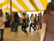 Lots of fun at the Square Dancing tent