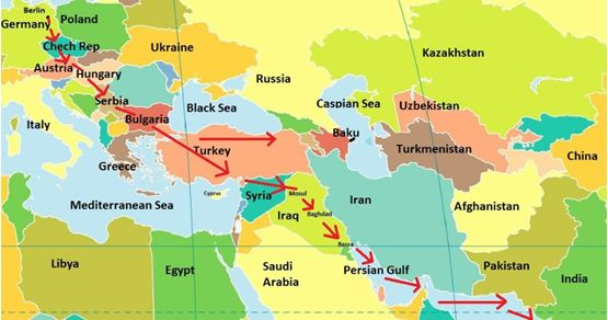 The First World War for Oil 1914-1918 Similarities with the 2014 - best of world map hungary syria
