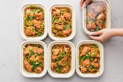 Honey Garlic Salmon Lo Mein Meal Prep Recipe · i am a food blog i am a food blog