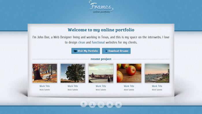15 Horizontal Scrolling Website Templates - online portfolio template
