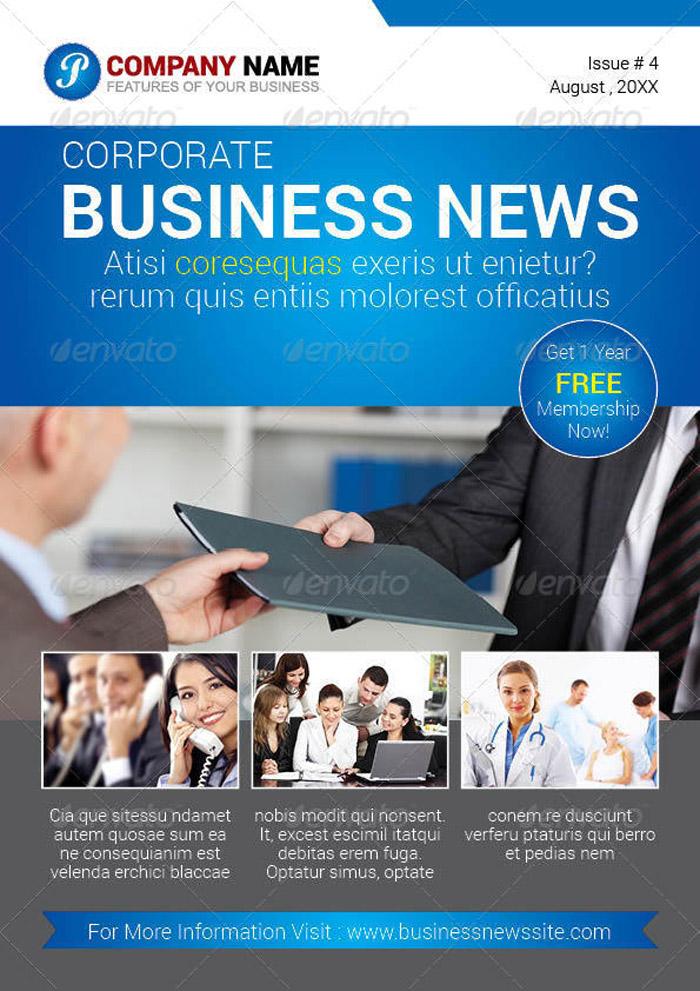 20 + Premium Newsletter Printing Templates