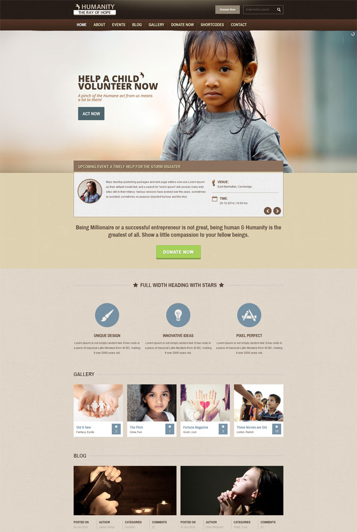 20 + Premium Nonprofit Website Templates