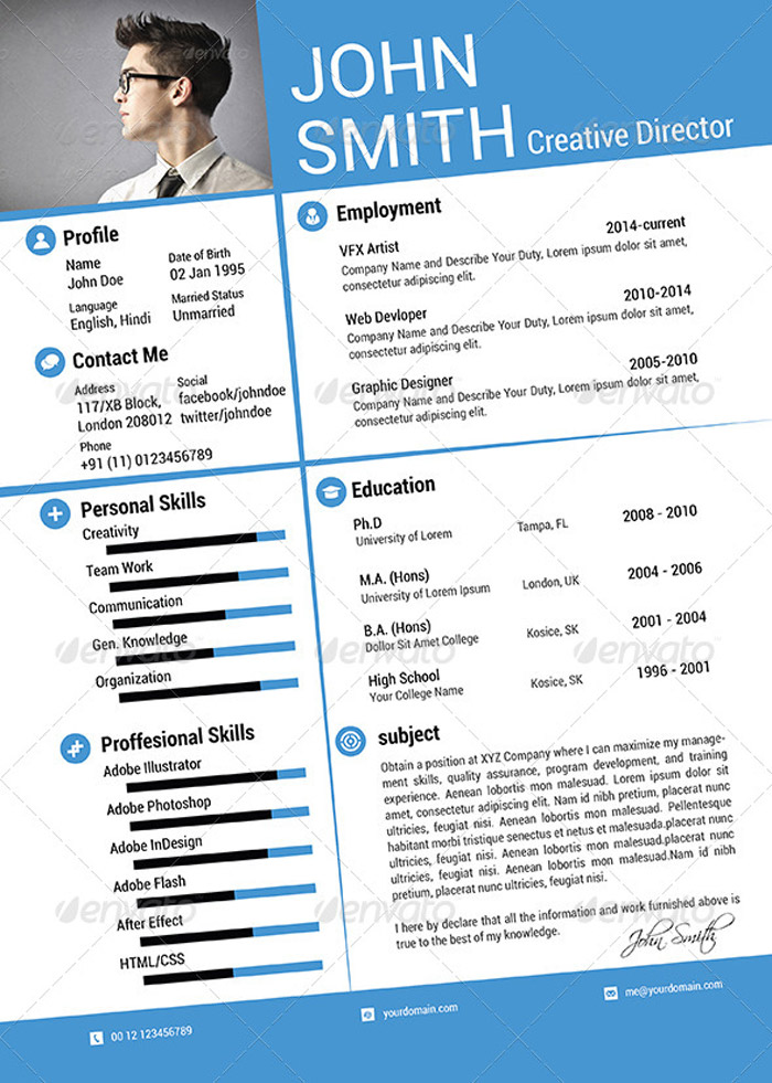 free resume templates print out - Free Resume Print Out