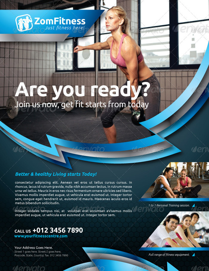 25 Best Gym Flyer and Brochure Templates - fitness brochure template