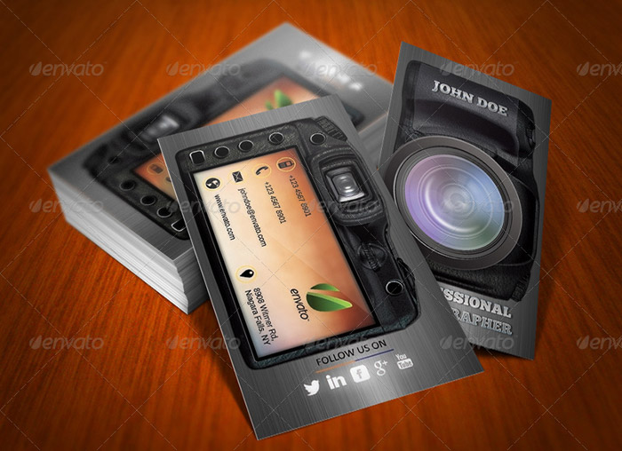 20 + Photography Business Card Templates