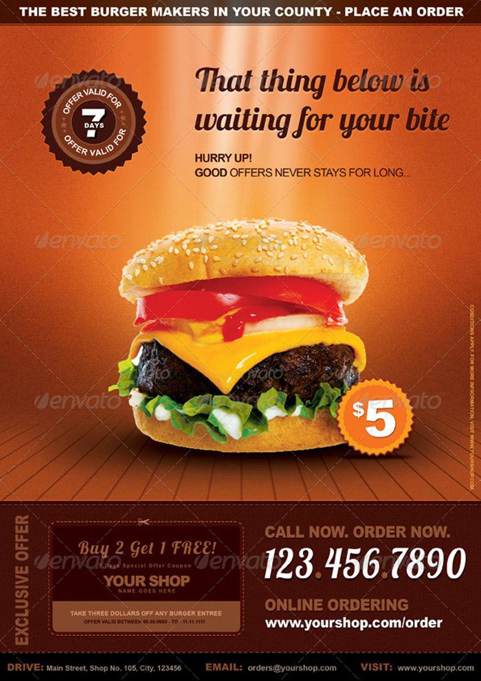 restaurant flyer - fototango - sample pizza menu template