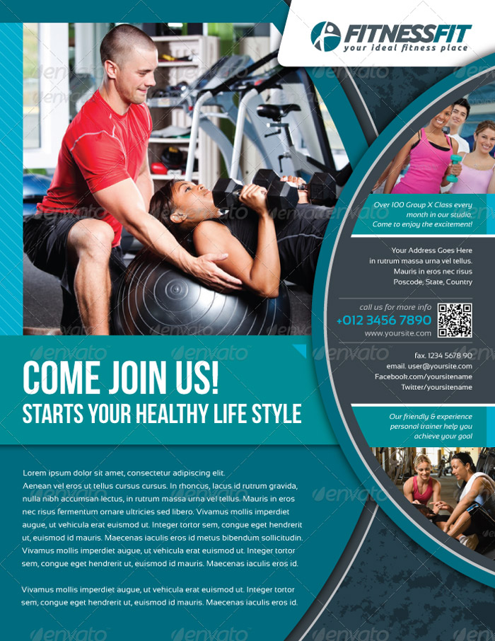 25 Best Gym Flyer and Brochure Templates