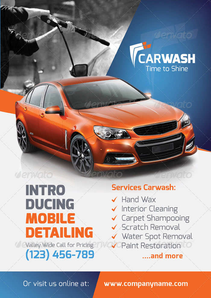 20 + Premium Car Flyer and Print Templates - car wash flyer template