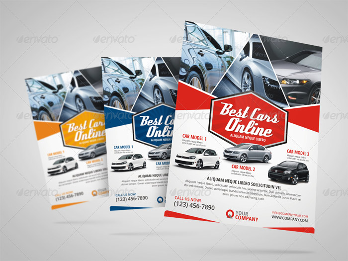 20 + Premium Car Flyer and Print Templates - car for sale flyer template