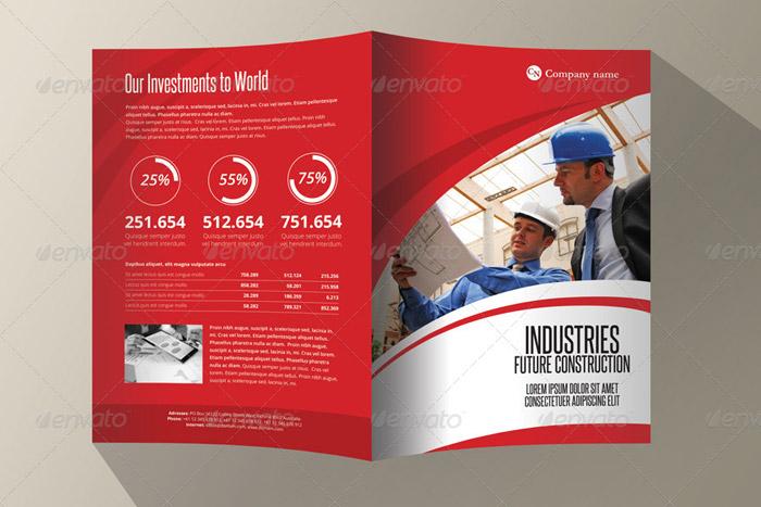 20 + Corporate Bi fold Brochure Templates