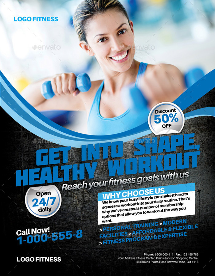 20 + Premium Sports Flyer Template Designs - fitness flyer