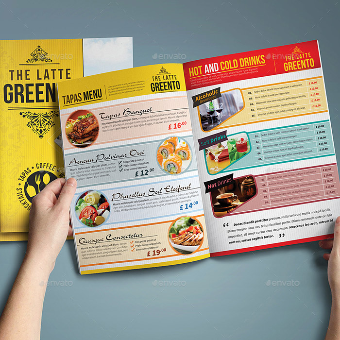 20 + Beautiful Food Menu Templates for Printing - food menu template