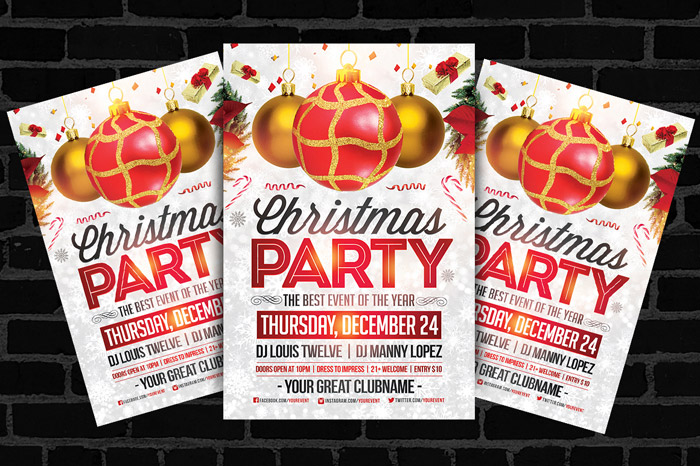 15 + Premium Holiday Flyer Templates for Inspiration - holiday party flyer template