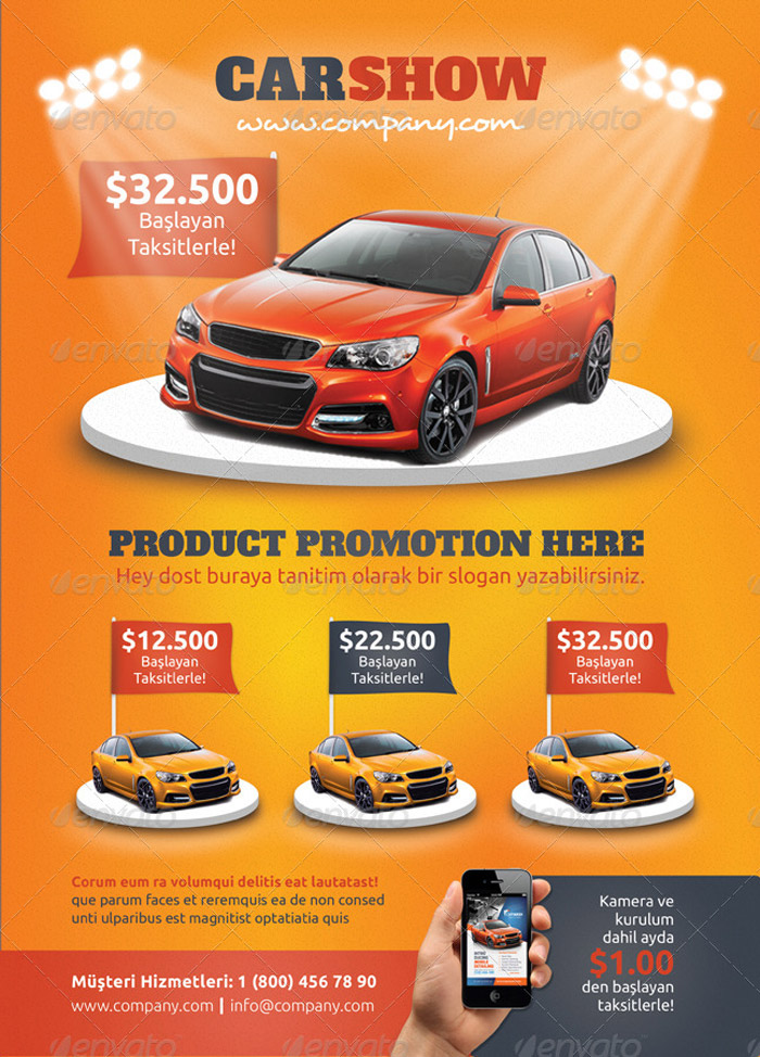 20 + Best Premium Printable Car Template - car for sale flyer template