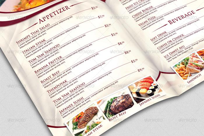 20 + Beautiful Food Menu Templates for Printing