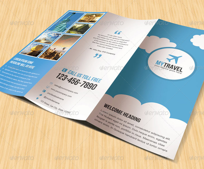 travel brochure templates free