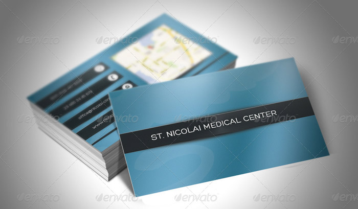 15 + Presentable Medical Business Card Templates - medical business card templates