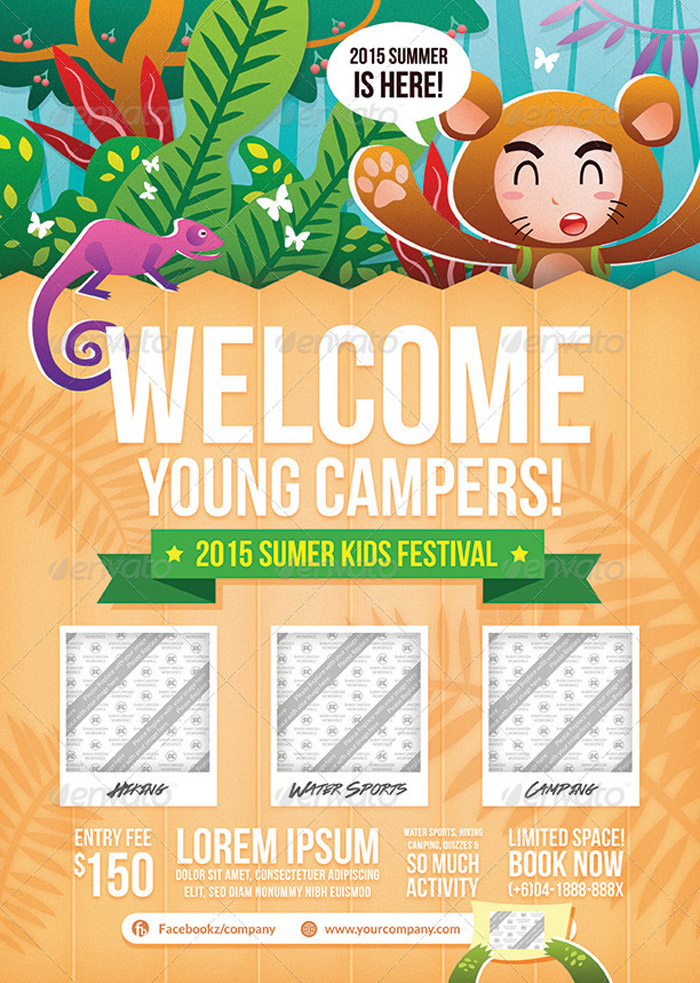 cute kids camp flyer - Deanroutechoice - Summer Camp Flyer Template