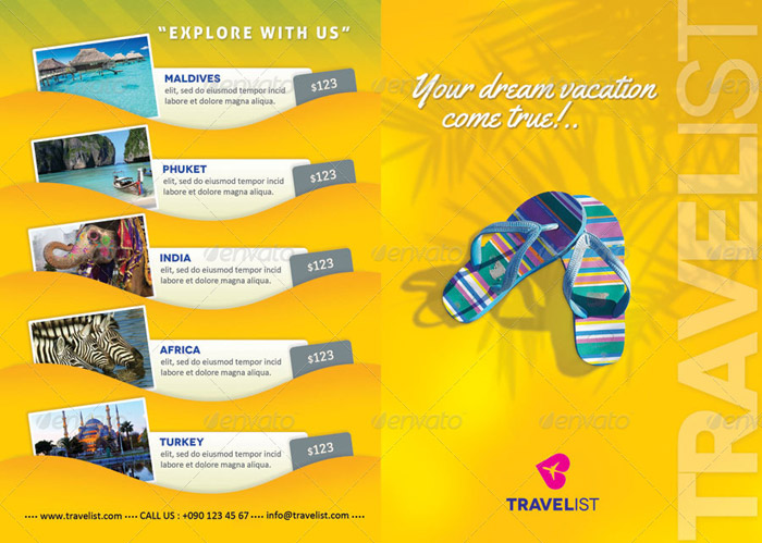 15 + Well-defined Travel Brochure Templates - travel brochure templates