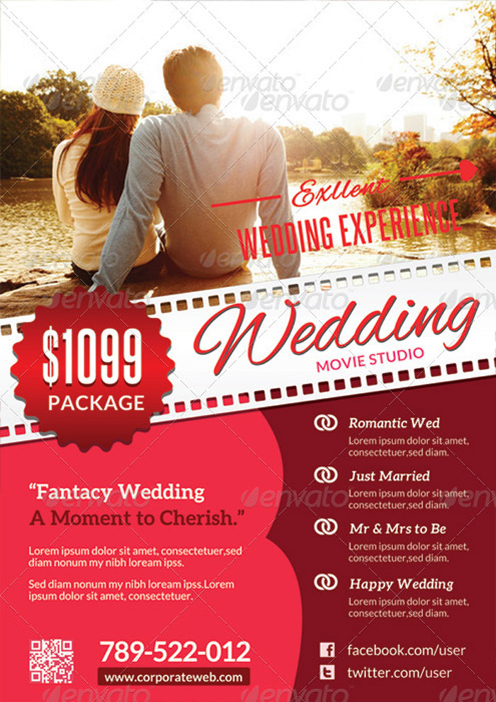 15 + Incomparable Wedding Flyer Templates