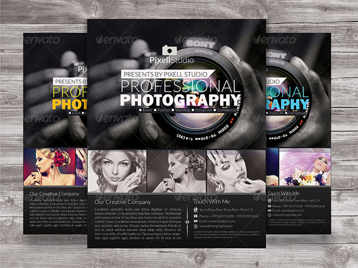 15 + Beautiful Flyer Templates for Photography - Photography Flyer