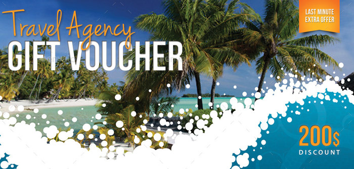 20 + Lovely Printable Gift Vouchers for your Business - Travel Gift Certificate Template Free