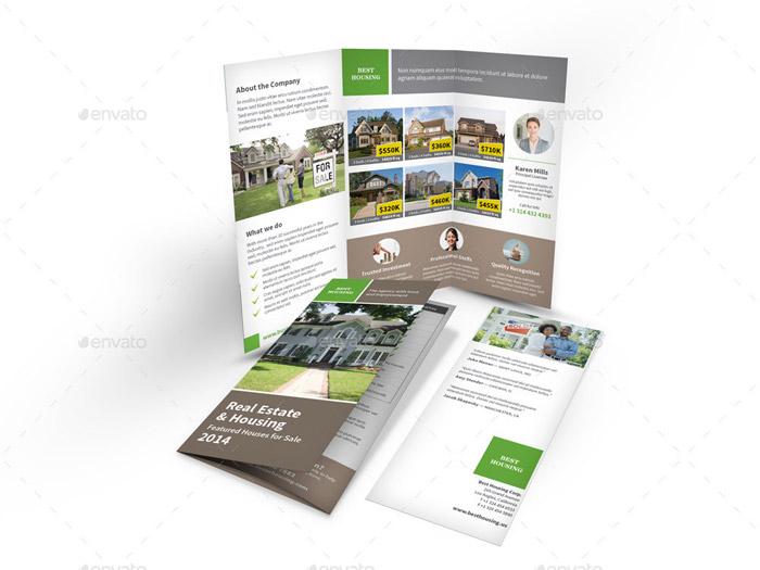 Real Estate Tri Fold Brochure Template Realtor Tri Fold Brochure - sample real estate brochure