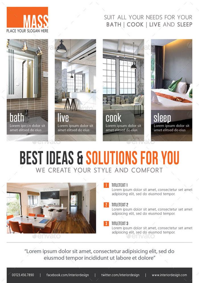 10 + Comprehensive Package of Interior Design Ideas - interior design flyers