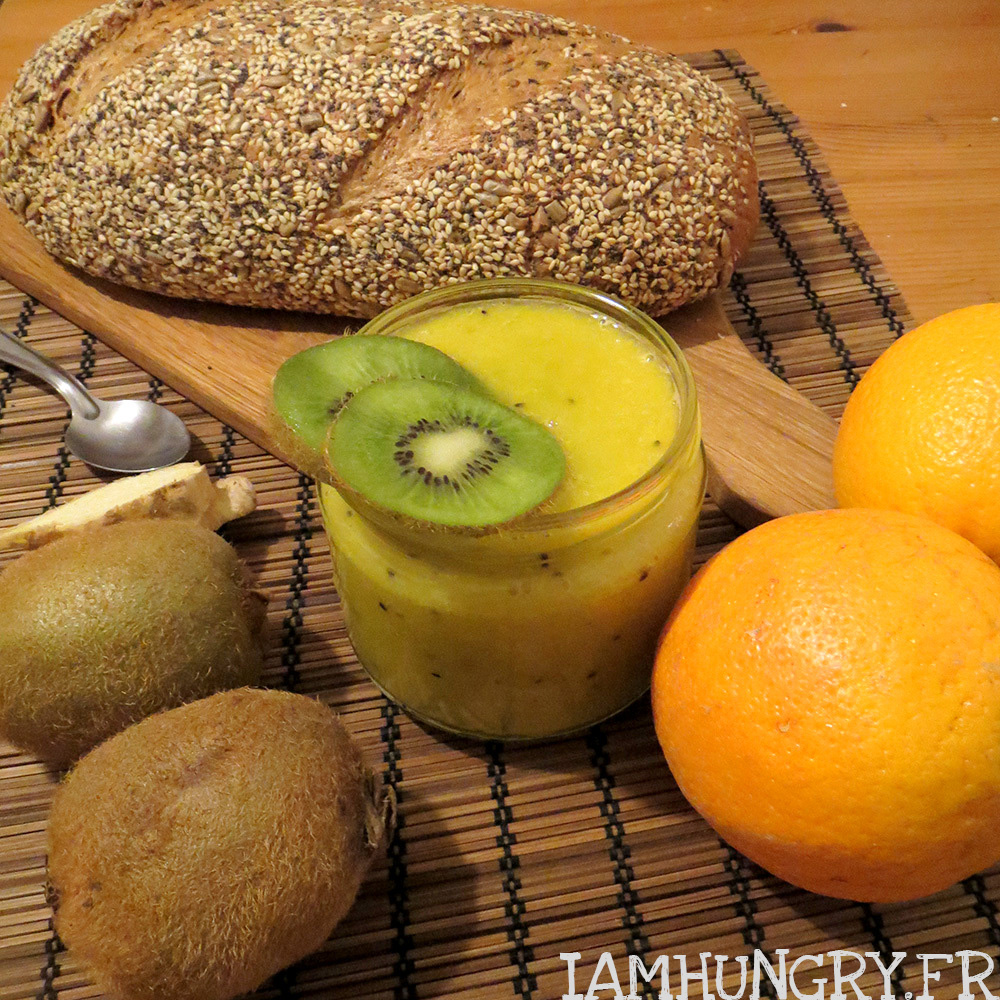 Recette Apéritif Yaourt Smoothie Orange Kiwi Et Gingembre- Iamhungry