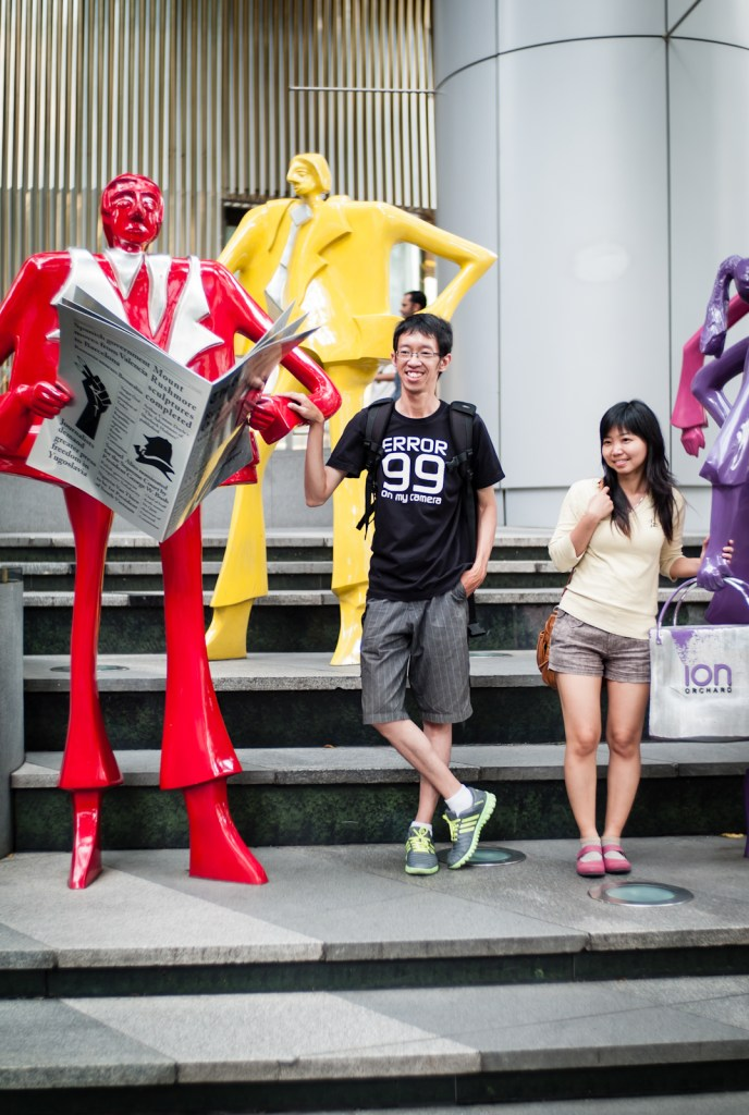 Tourists in front of ION Orchard