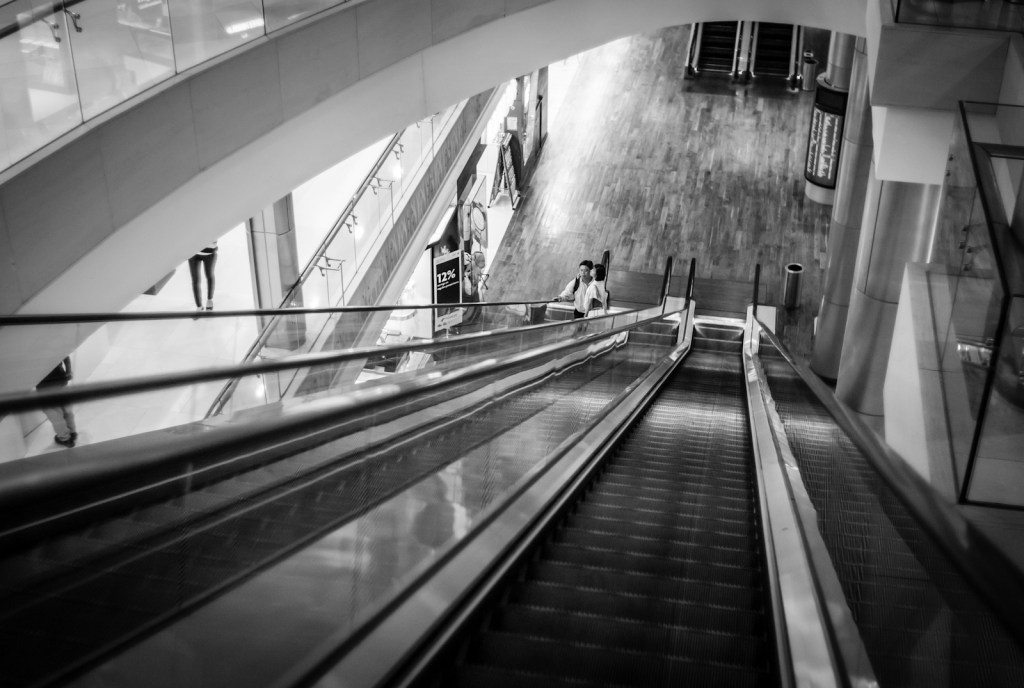 Escalators in ION Orchard