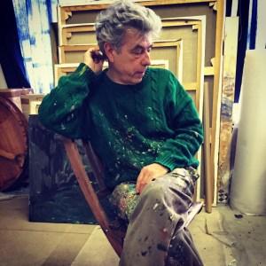 Patrice Giorda - dans son atelier