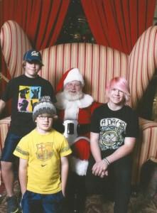 Bryce, McKinley, Santa, and Jasper 2011