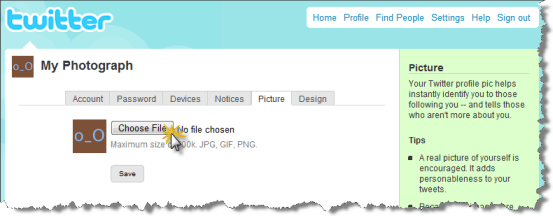 click choose file How to upload your picture in Twitter   Step by step