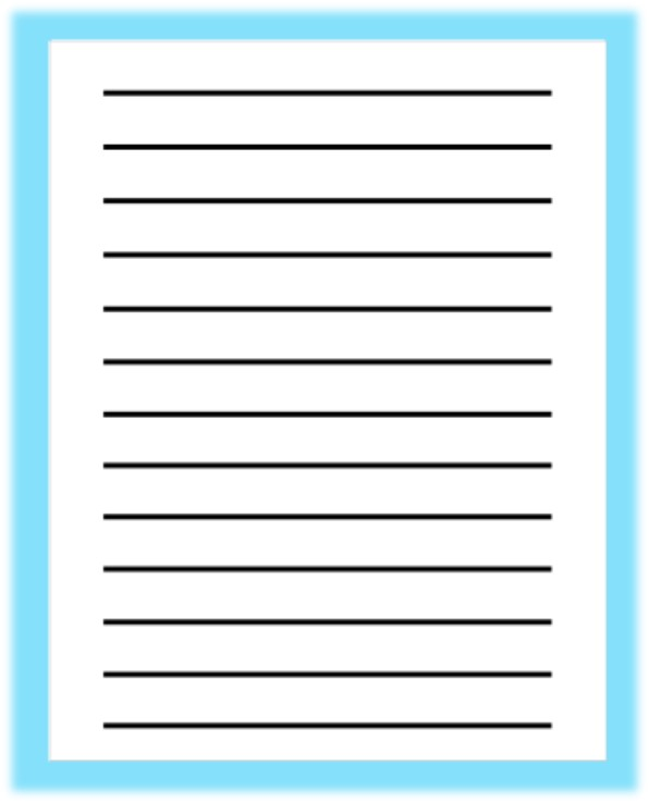 Writing paper with pre-printed bold lines \u003e IAPB Standard List