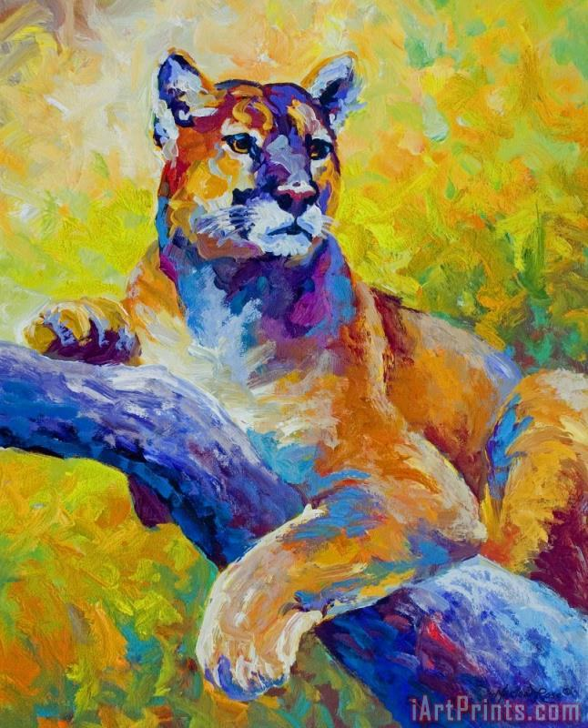 Artsy Wallpaper Modern Girl Marion Rose Cougar Portrait I Painting Cougar Portrait I
