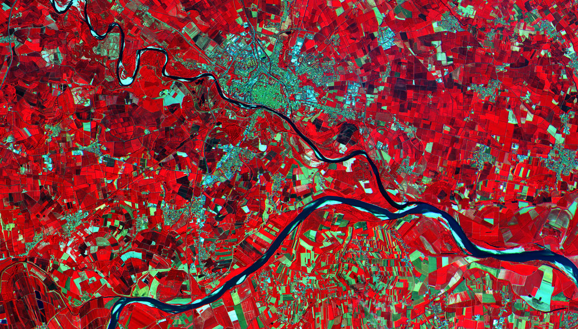 Sentinel 2A image from MSI Instrument of Po Valley in Italy
