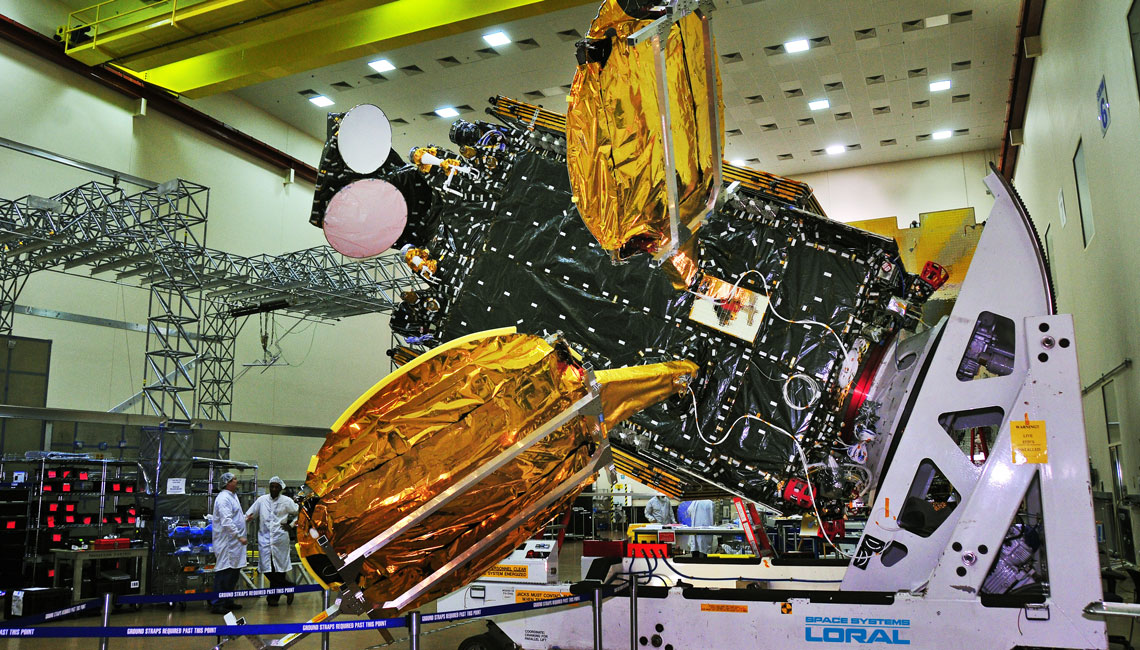 Hispasat 1E with CREW at Space Systems Loral