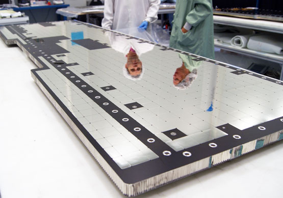 IberEspacio Thermo Structural panel being manufacture at IberEspacio facilities