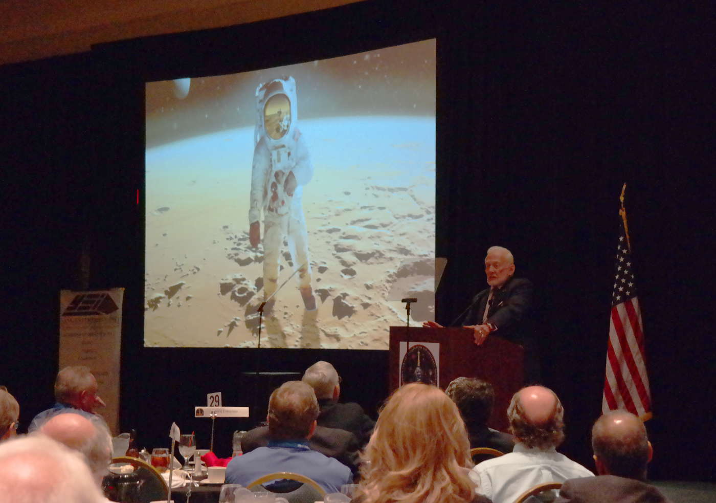 Dr. Buzz Aldrin at 44th Space Congress