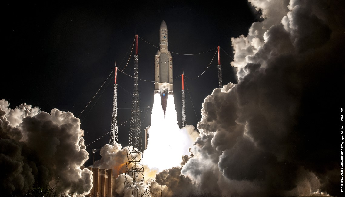 Bsat-4A launched on board an Ariane 5. Mission VA 230. Photo Credit: ESA, CNES, Arianespace