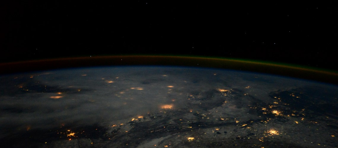 Picture of the Earth at night from the ISS - ESA credit