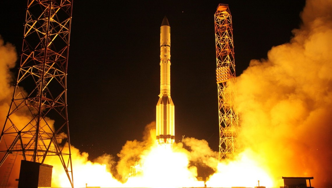 Amazonas-5 launched onboard an Proton M. Photo credit Roscosmos