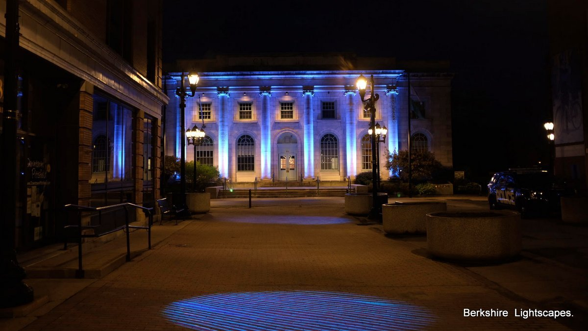 Lighting Online Pittsfield City Hall Lit Up With Kinetic Lights Iberkshires