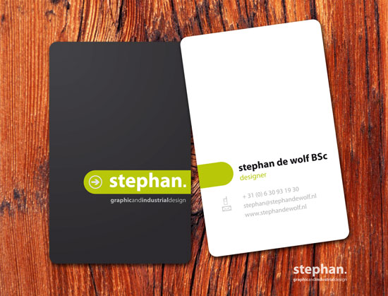 65 Minimalist Vertical Business Card Designs - portrait business card