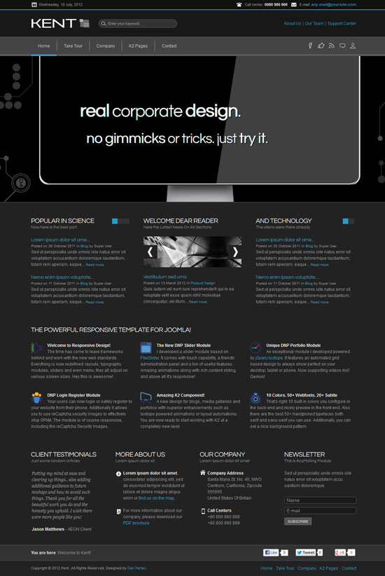 12 Creative Business Website Templates - Html Resume Template