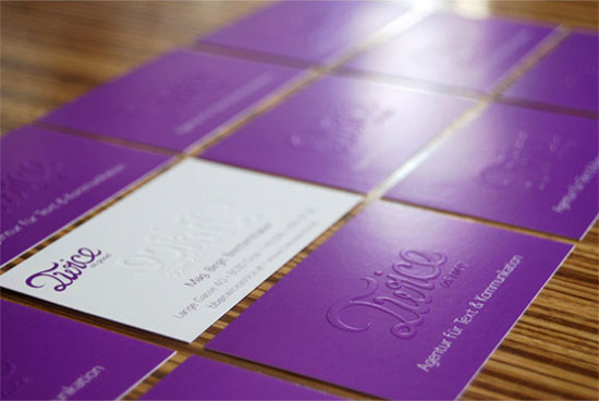 31 Creative Purple Business Cards to Inspire You