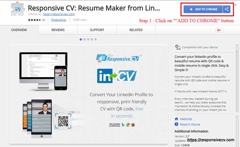 How To Convert LinkedIn Profile to Neat Looking Resume - mobile resume
